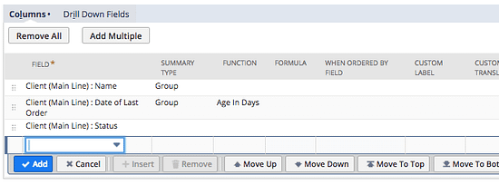 Configure your transaction search result