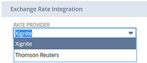 NetSuite Multi-currency exchange rate integration