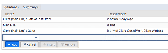 Configure your Transaction Search Filters