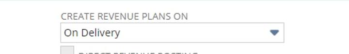 NetSuite Advanced Recognition Management Actual Revenue Plan