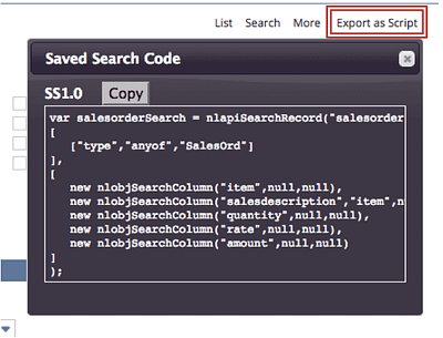 Export as Script
